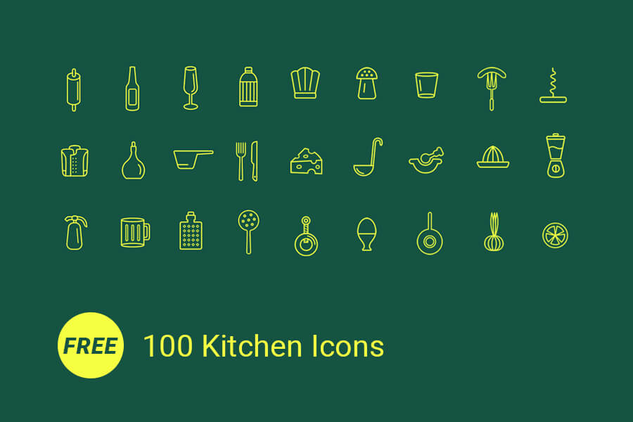 100-kitchen-icons