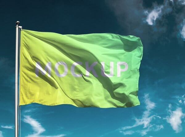 Mockup drapeau