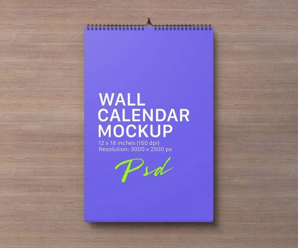 Mockup calendrier