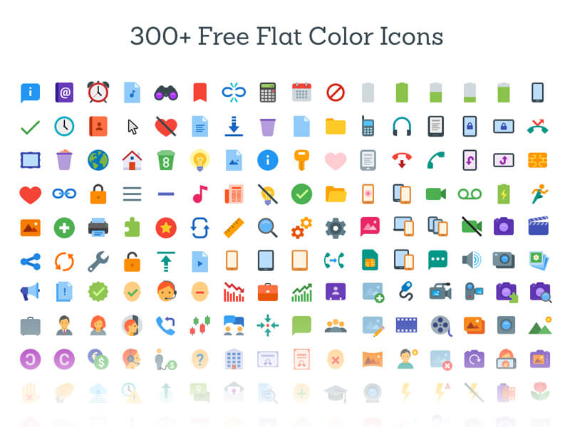 300-icones-flat-colorees-sketch