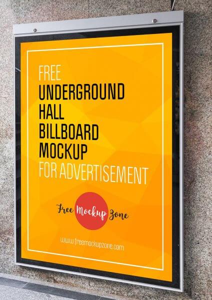 Mockup affiche métro