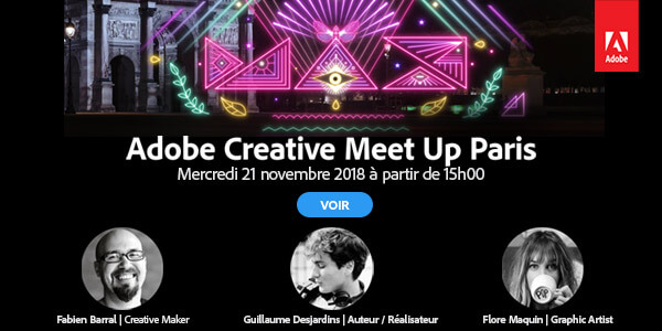 Adobe Creative Meet Up : une nouvelle édition de retour le 21 novembre