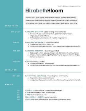 Modèle CV gratuit
