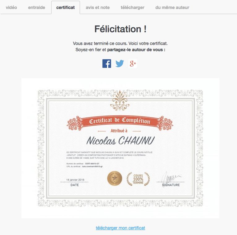 certificat tuto.com