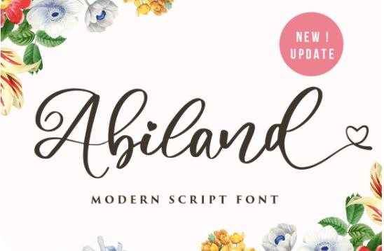Albiland font