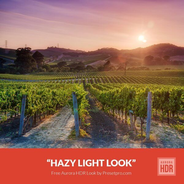 Preset Hazy light look