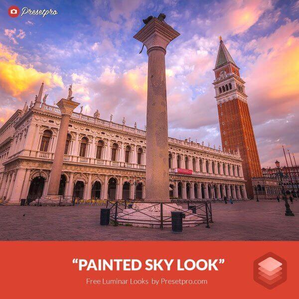 Painted sky look preset