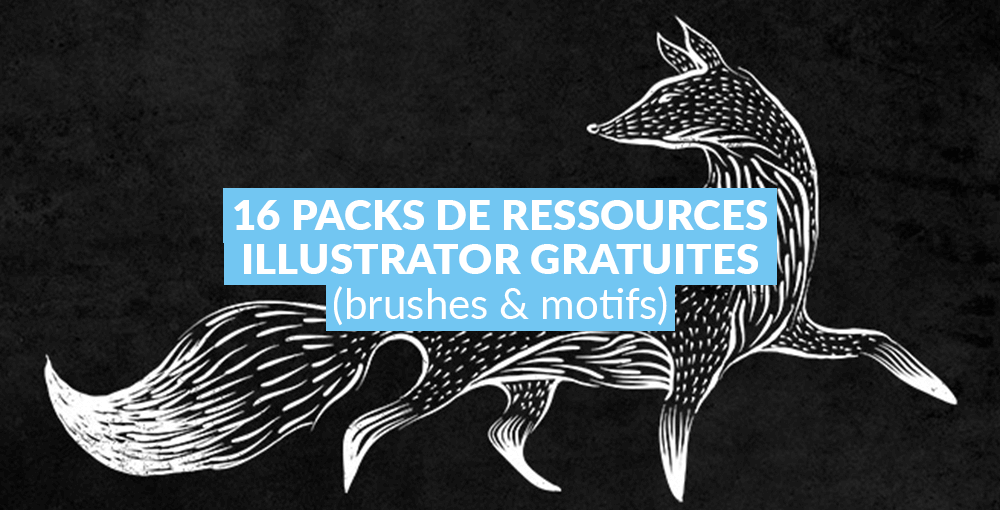 16 packs de ressources Illustrator gratuites (brushes et motifs)