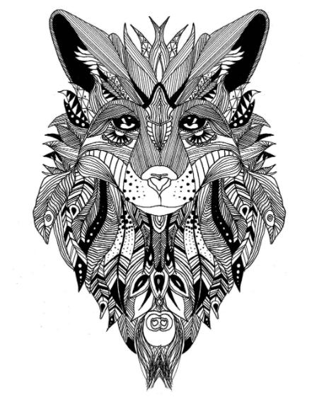 loup coloriage