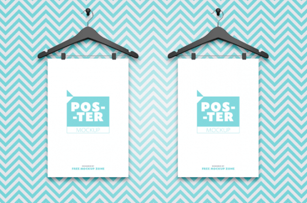 Mockup affiches cintres