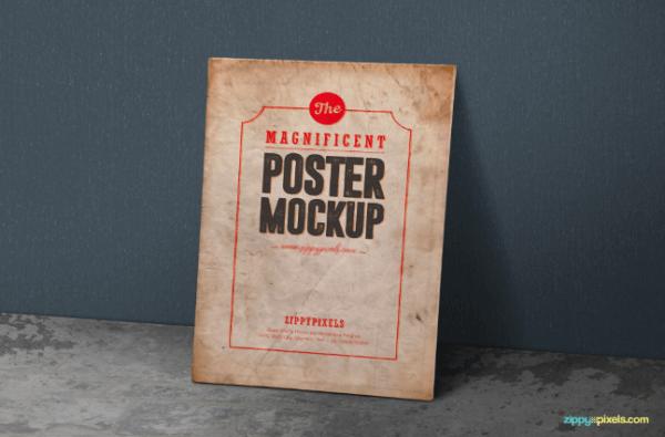 Mockup poster vintage