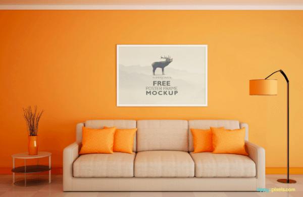 Mockup salon orange