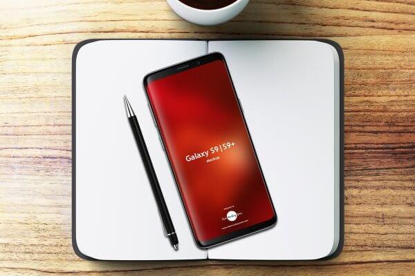 Samsung galaxu S9 S9+ mockup