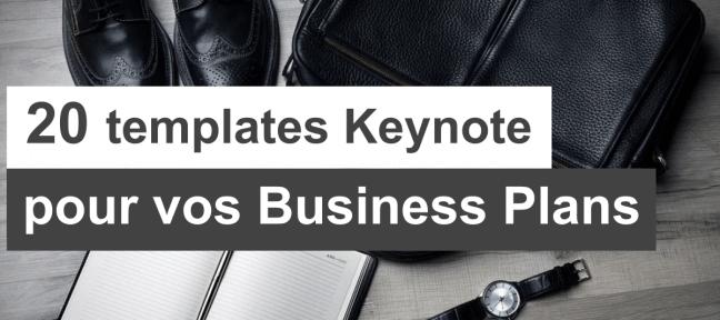 20 templates Keynote gratuits pour vos business plans