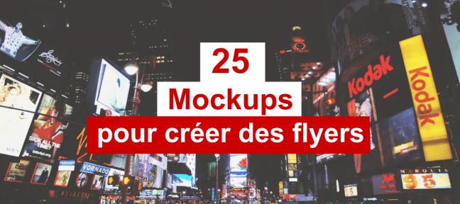 25 mockups gratuits pour vos flyers