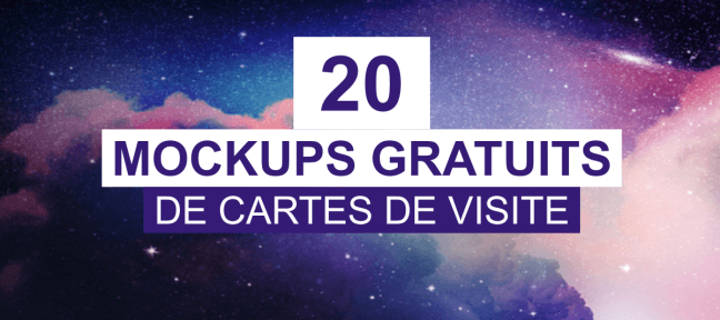 20 Mockups de cartes de visites gratuits pour la rentrée