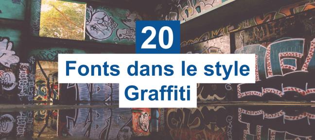 20 typos gratuites dans le style graffiti