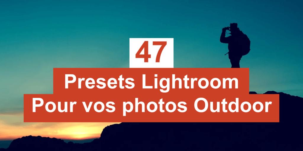 Presets lightroom outdoor