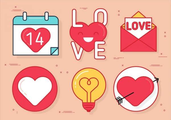 Vecteur illustration saint valentin