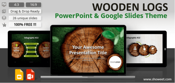 WOODEN LOGS – Nature Template for PowerPoint