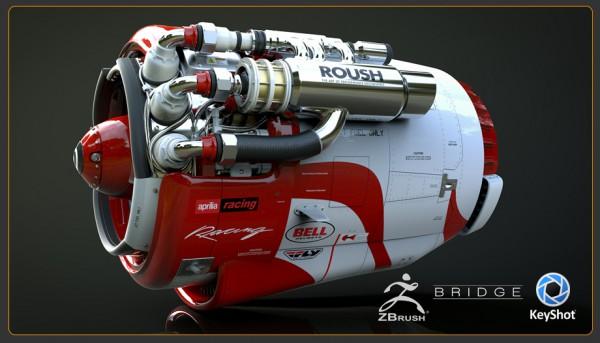 ZBrush 4R7 Keyshot
