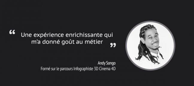 Formation Infographiste Cinema 4D : témoignage d'Andy