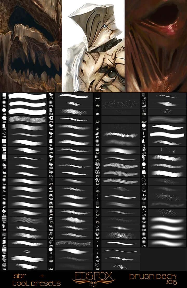 Digital Painting : 26 packs de brushes Photoshop gratuits au top