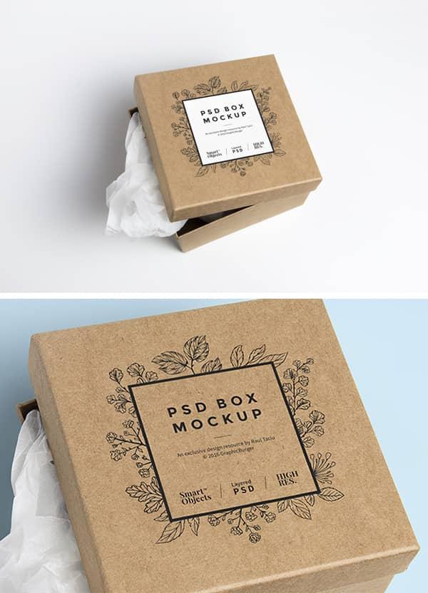 22 Mockups Gratuits Autour Du Packaging Sac Boite