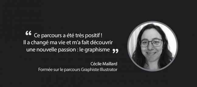 Le parcours Graphiste Illustrator de Tuto.com suivi par Cécile