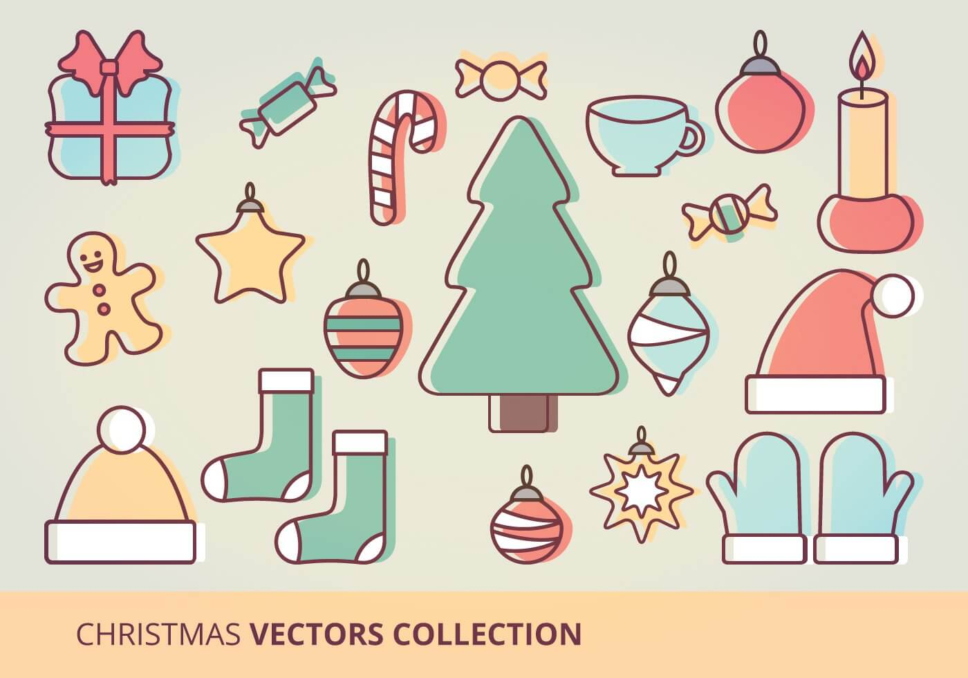 christmas-icons-vector-set