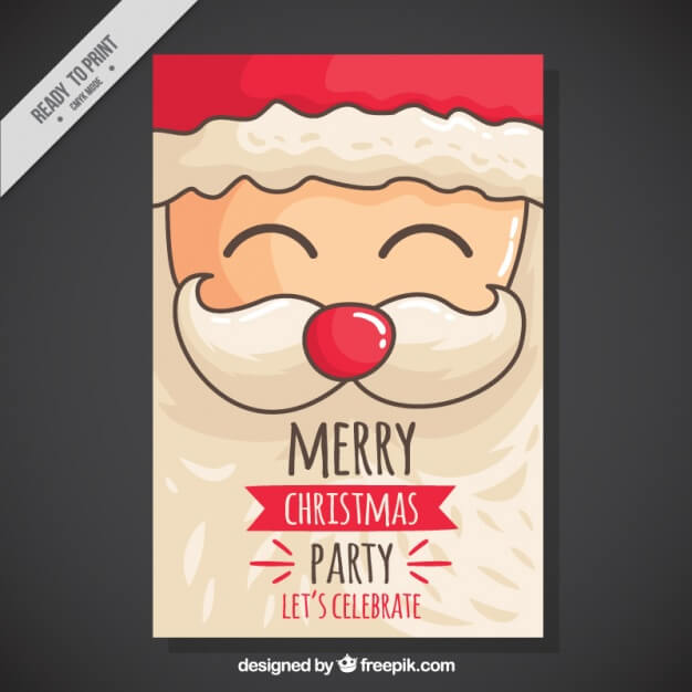 christmas-party-invitation-with-hand-drawn-cheerful-santa_23-2147578043