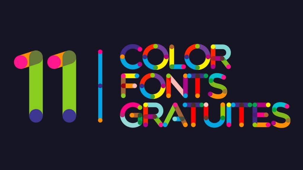 color fonts gratuites