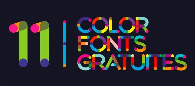 Color Fonts Gratuites : 11 polices à télécharger