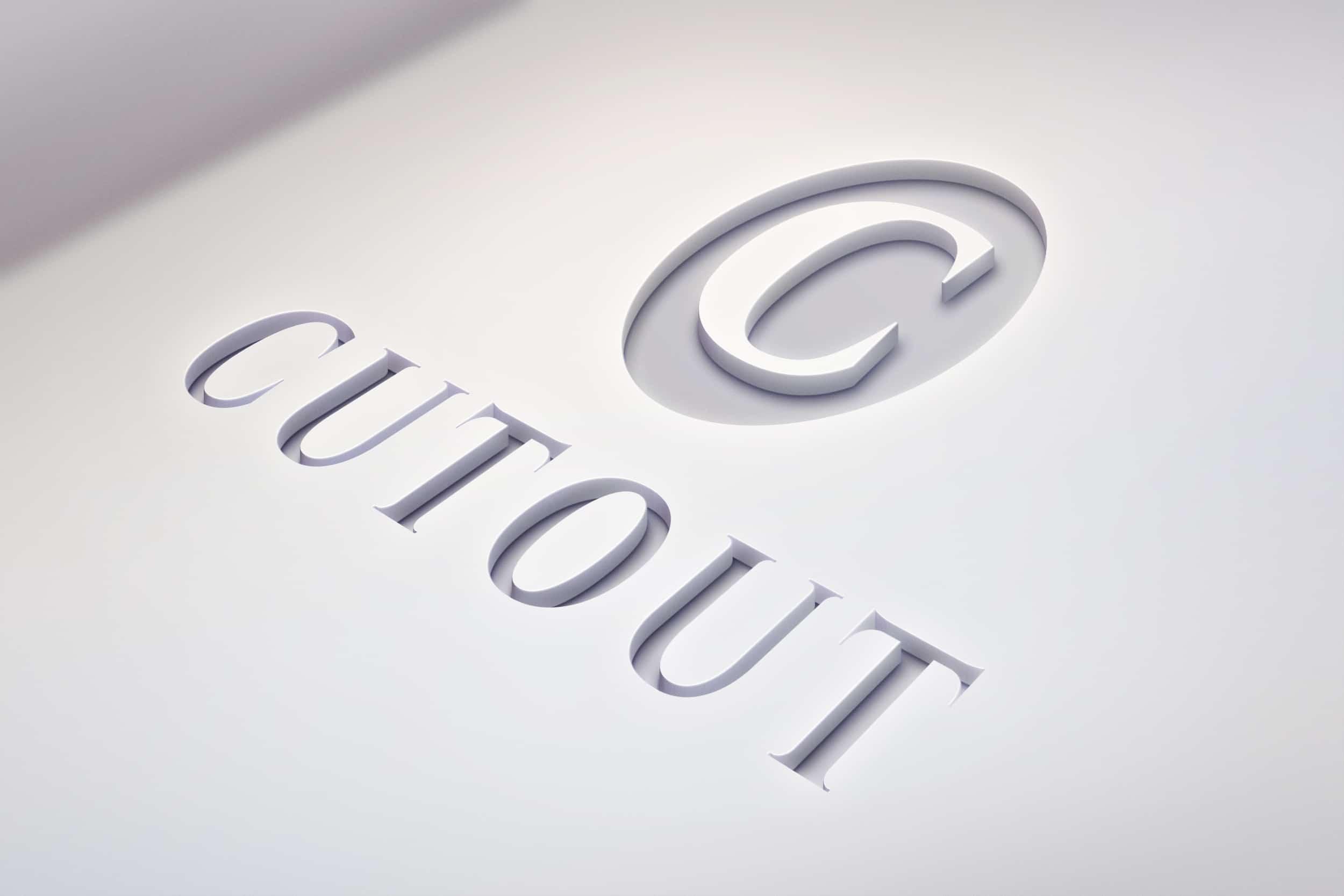 1 Cutout Logo Mockup De Dcoup Vid