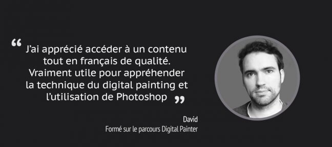 Formation Digital Painter à distance : le témoignage de David