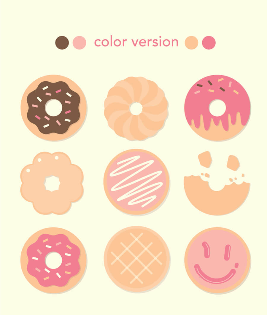 donut-icon-set