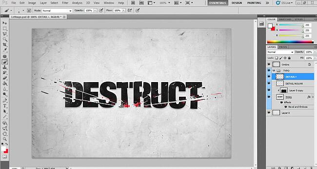 effet-texte-destruct