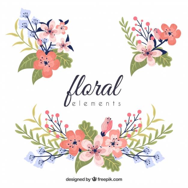 element floraux colores
