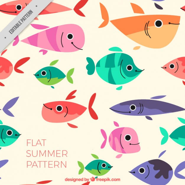 flat-colored-fishes