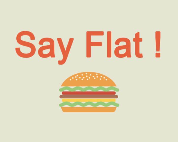 C'est flat...design