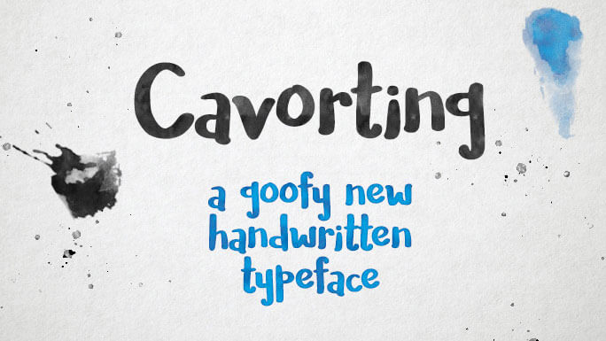 font-cavorting