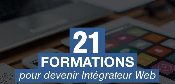21 formations qui vous aideront à devenir Intégrateur Web