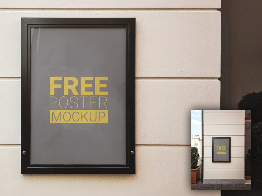 framed-poster-wall-mockup