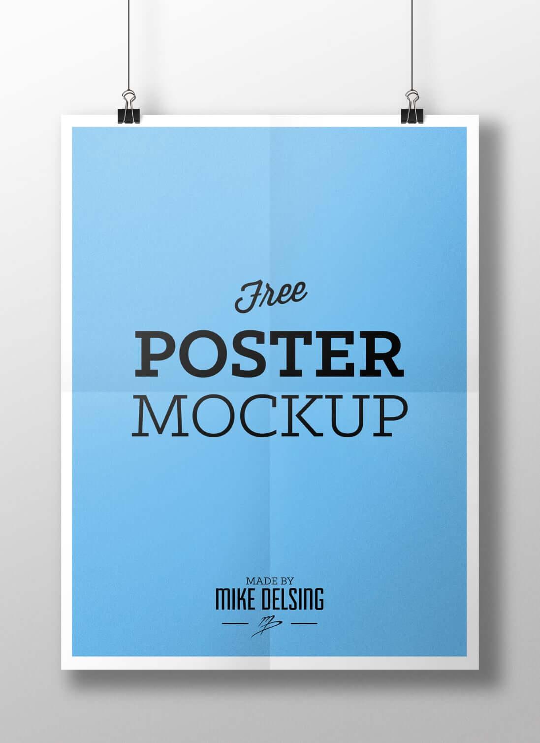 28 mockups de posters gratuits pour mettre en valeur vos affiches. Black Bedroom Furniture Sets. Home Design Ideas