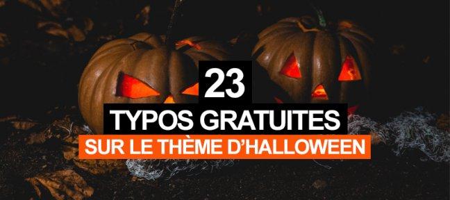 23 typos gratuites sur le thème de Halloween