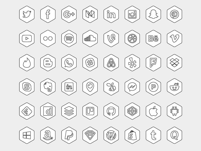 icones-hexagonales-sketch