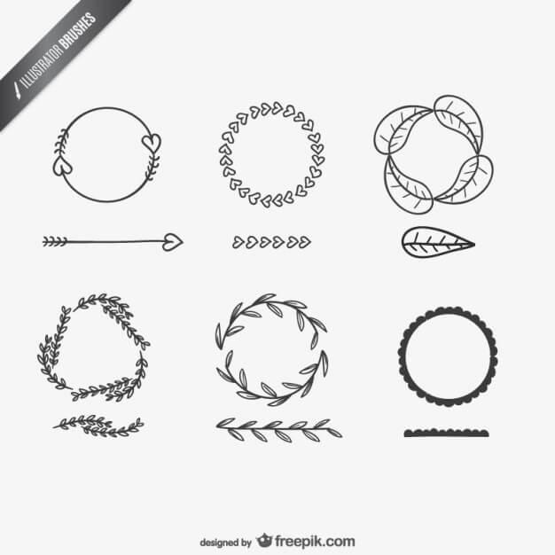 23 packs de brushes Illustrator à intégrer dans vos ressources