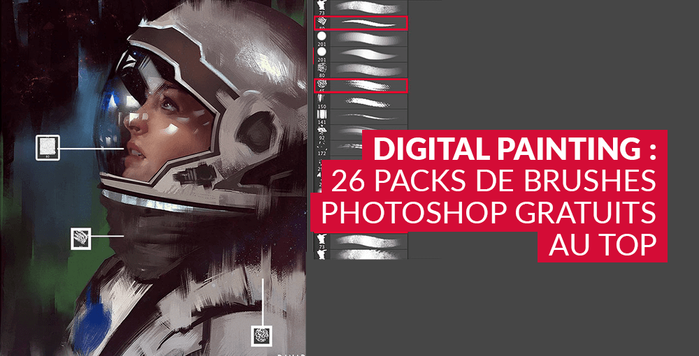 Digital Painting : 26 packs de brushes Photoshop gratuits au top