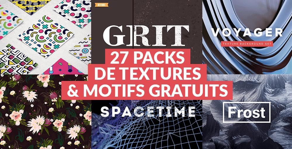 27 packs de textures et motifs gratuits pour vos prochaines créations