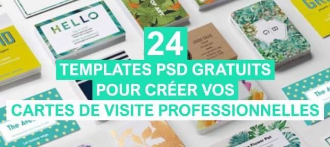 24 templates de cartes de visite gratuits à personnaliser
